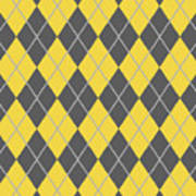 Argyle Diamond With Crisscross Lines In Pewter Gray T05-p0126 Poster