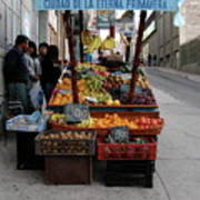 Arica Chile Fruit Stand Poster