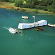 Arizona Memorial From Above Poster