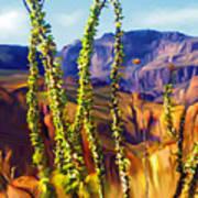 Arizona Superstition Mountains Poster