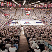 Arizona Wildcats White Out At Mckale Center Poster