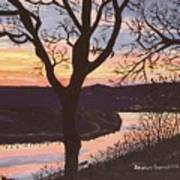Arkansas River Sunset Poster