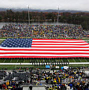 Army An American Flag Spans Michie Stadium Poster by Associated Press
