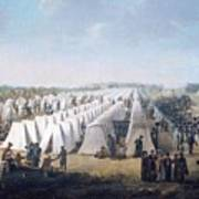 Army Camp In Rows  Poster