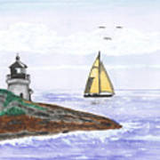 Around The Bend Sailboat Poster