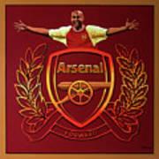 Arsenal London Painting Poster