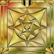 Art Deco Brass 2 Poster