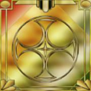 Art Deco Brass 3 Poster