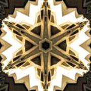 Art Deco Parquet Star Poster