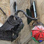 Art Nouveau Dragon In Marzaria Venice Italy Poster