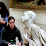 Art Students In The Louvre Poster