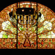 Artful Stained Glass Window Union Station Hotel Nashville Poster