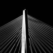 Arthur Ravenel Jr. Bridge Lines Poster