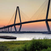 Arthur Ravenel Jr. Bridge Sunset Poster