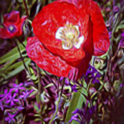 Artistic Kentucky Red Poppy Poster