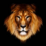 Artistic Lion Poster by Aimelle
