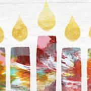 Artists Menorah- Art By Linda Woods Poster