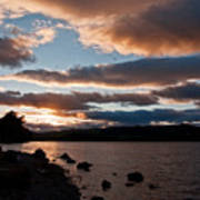 As The Sun Sets Over Loch Rannoch Poster