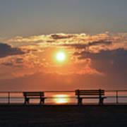 Asbury Park Boardwalk Sunrise Poster