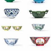 Asian Art Chinese Pottery - Bowls Poster