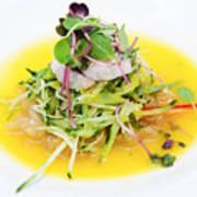 Asian Korean Fusion Fresh Prawn Salad Poster
