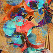 Asian Orchid Abstract Poster
