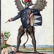 Asmodeus, King Of Demons, 18th Century Poster