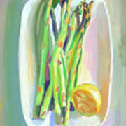 Asparagus Plate Poster