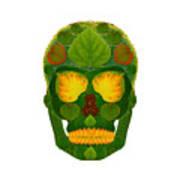 Aspen Leaf Skull 9 Poster