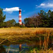 Assateague Lighthouse Reflection Poster