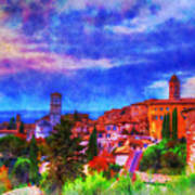 Assisi At Dusk 2 Poster