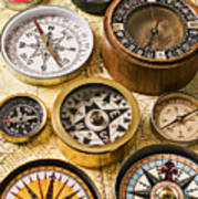 Assorted Compasses Poster