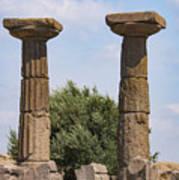 Assos Temple Of Athena Columns Poster