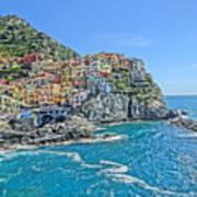Astonishing Magnificient Manarola In Cinque Terre Poster