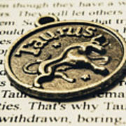 Astrological Definition In Taurus Poster