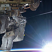 Astronaut Terry Virts Eva Poster