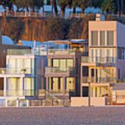At Home On Santa Monica Beach Poster