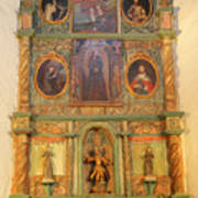 At The Alter San Miguel Mission Santa Fe New Mexico Poster