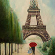 At The Eiffel Tower Poster