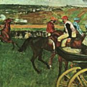 At The Races, Digitally Enhanced, Edgar Degas, Digitally Enhanced Maximum Resolution Poster