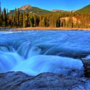 Athabasca Falls In Jasper National Park Poster