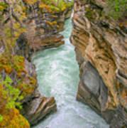 Athabasca River Canyon Poster
