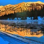 Athabasca River Glow Poster