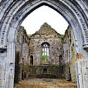 Athassel Priory Tipperary Ireland Medieval Ruins Decorative Arched Doorway Into Great Hall Poster