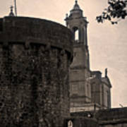 Athlone Castle And Church Poster