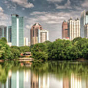 Atlanta As Viewed From Piedmont Park Poster