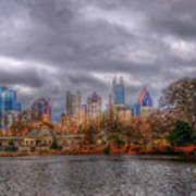 Atlanta City Skyline Georgia Usa Hdr Poster