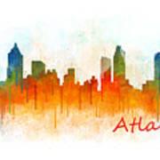 Atlanta City Skyline Hq V3 Poster