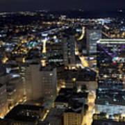 Atlanta Georgia At Night Poster