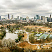 Atlanta Georgia City Skyline Poster